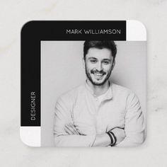 Shop Modern Minimal Photo Black Square Business Card created by moodthology. Square Business Cards, Business Cards Layout, Minimal Business Card, Black Business Card, Modern Business Cards, Business Photos, Professional Business Cards, Business Card Design, Minimal Photo