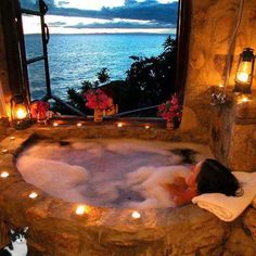 Romantic Bubble Bath, Bath Photography, Romantic Candles, Bath Candles, Best Bath, Relaxing Bath, Dream Bathrooms, Romantic Bathrooms, Romantic Bathtubs