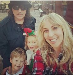 Ritchie Blackmore, wife Candice, children Autumn & Rory