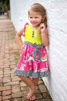 Bright and bold colors make this dress stand out!