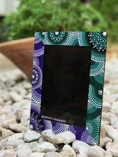 Mandala Picture frame #mandaladesign #amanomandalas #dotillism #puntillismo #pictureframe #diy