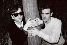 Johnny Marr and Morrissey of The Smiths ― photo by Clare Muller (1983).