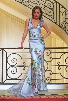 Les habitudes# Los angeles#Floral silk gown