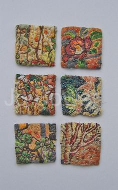 Embroidered Textile Plants2 by erintrees