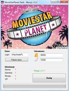 MovieStarPlanet Hack na Diamenty i Monety