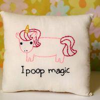 Unicorn Pillow Magical Pooping Unicorn by ohhoneychild on Etsy