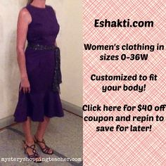 I LOVE Eshakti. This dress is gorgeous, too. $40 off to try Eshakti for the first time is a no-brainer!