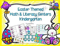 Easter Math & Literacy Centers (11 Centers for Kindergarten or 1st Grade) from Crystal McGinnis on TeachersNotebook.com -  (75 pages)  - This pack gives you 11 math and literacy centers that would be perfect for Kindergarten or First Grade. These Easter themed centers would be a great addition to your April themes. Here is what you get:   Easter Rabbit Subtraction  CVC Word Eggs  Jellybean