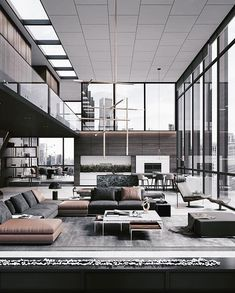 40 Loft Living Rooms That Will Blow Your Mind loft living room,modern living room,minimalism living room,industrial living room,cozy living room Luxury Homes Interior, Luxury Apartments, Modern Interior, Interior Architecture, Interior Design, Render Architecture, Loft Stil, Style Loft, Loft Interiors