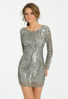 Long Sleeve Short Sequin Dress from Camille La Vie and Group USA