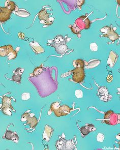 Kitchen Helpers - House Mouse Tumble - Turquoise