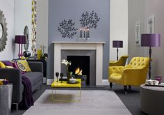 Mirror either side of the alcive adds depth to this Living room. Designed by Sophie Robinson www.sophierobinson.co.uk