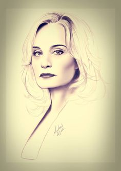 A beautiful sketch of Jessica Lange
