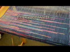 On a Rigid Heddle Loom : Art Weaving Demo -Clasped Weft and Inclusions - YouTube
