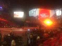 Inside the arena before the magic happens!!