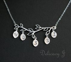 Family initial necklace