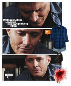 """I'm blue...😔#517"" by tkcostner ❤ liked on Polyvore featuring True Religion, Converse, supernatural, winchester, dean, spn and brothers"