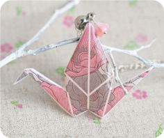 Origami  necklace   beautiful Japan by SecretFind Origami Necklace, Magic Hands, Polymer Clay, Pendants, Japan, Free Shipping, Prints, Handmade, Beautiful