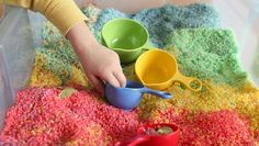 Patrick's Day for Kids Rainbow Sensory Box - pinned by – Please Visit for all our pediatric therapy pins Sensory Activities, Preschool Activities, Sensory Play, Sensory Tubs, Sensory Diet, Preschool Lessons, Diy For Kids, Crafts For Kids, Vbs Crafts