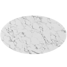 Modway Lippa Oval-Shaped Artificial Marble Dining Table in White Faux Marble Dining Table, Tulip Dining Table, A Table, Dining Tables, Table Legs, Artificial Marble, Oval Coffee Tables, Dining Furniture, Modern Furniture