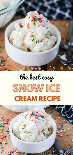 Rich creamy three ingredient ice cream is an amazing thing, especially when one of the ingredients for this tasty family treat is freshly fallen snow. Next time snow's in the forecast, set out some bowls because snow ice cream is on the dessert menu!