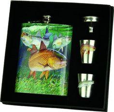 Guy Harvey Redfish Trout 7 oz. Flask Set