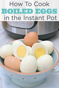 How to Cook Hard Boiled Eggs in the Instant Pot - the easiest way to boil eggs with no mess! Works on all electric pressure cookers. Pressure cooking made easy! via @Mom4Real