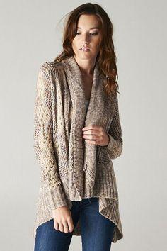 Amylynne Crochet Knit Sweater in Mocha Lilac on Emma Stine Limited