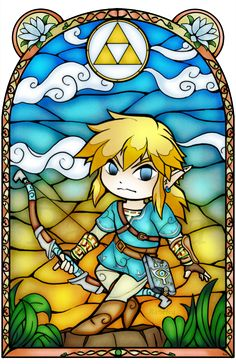 Breath of the Wild Stained Glass by Ranefea on DeviantArt