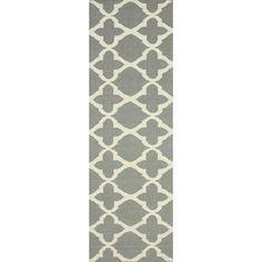 Hand-woven wool rug.  Product: RugConstruction Material: 100% WoolColor: GreyFeature...
