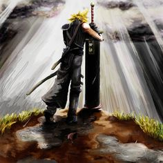 A promise to live. By Final Fantasy VII. A promise t… A promise to live. By Final Fantasy VII. A promise to live. By Final Fantasy VII. Final Fantasy Cloud, Final Fantasy Artwork, Final Fantasy Characters, Final Fantasy Vii Remake, Fantasy Series, Cloud And Tifa, Cloud Strife, Final Fantasy Collection, Thing 1