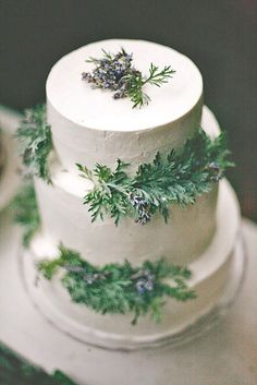 We recommend seasonal ideas. Take a look on these winter wedding cakes with pine cones, holly & berries under the snow and of course snowflakes and icicles.