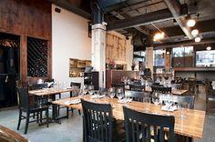 Boneta restaurant in Gastown, Vancouver, BC, shot for owner Mark Brand Vancouver Restaurants, Area Restaurants, Side Orders, Fava Beans, Best Chef, Wine Storage, Cafe Bar, Looks Cool, Baby Food Recipes