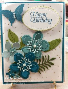 Botanical Blooms, Botanical Builder Dies, Elegant Butterfly Punch, Wink of Stella, Stampin' Up!, Birthday Card