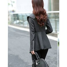 Zeagoo Fashion Women Slim Fit Woolen Coat Trench Coat Long Jacket Outwear Overcoat