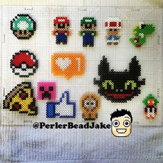 Perler bead crafts by perlerbeadjake