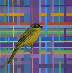 Available for sale from Michael Warren Contemporary, Jennifer Bain, Limited Repertoire Oil(bird) and acrylic(pattern) on clayboard, in 2013, Contemporary Art, Artsy, Bird, Artwork, Work Of Art, Auguste Rodin Artwork, Birds, Modern Art