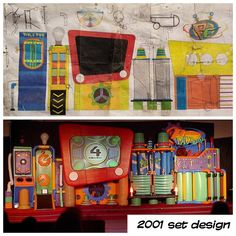 A #KidzTurnThrowback Thursday... Our 2001 #kidsetdesign plan & the completed set.  The first set we designed on a computer.  #kidmin