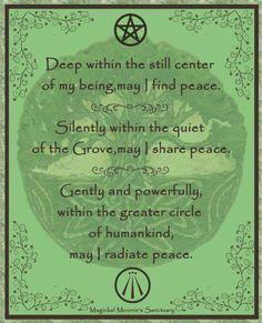 `I hope I radiate peace