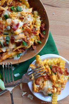 Buffalo Chicken Bacon Cheese Fries | Katie's Cucina