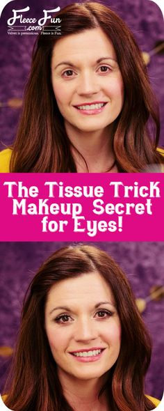 "Tissue Eye Trick.  Today I thought I would share with you my ""Tissue Trick"".  It's simple give you a nice eye that looks great and lifts.  Plus everyone has a clean tissue – so no extra special tools needed!  You will want to see how to use this trick!"
