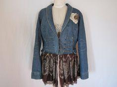 @: Victorian Upcycled Jean Jacket