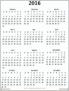 2016 Calendar Template | Calendar Girls 2016 | Pinterest ...