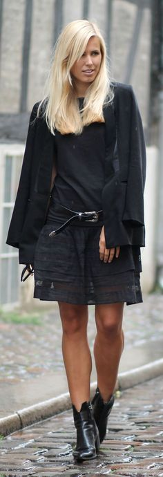 Everything Black Outfit Idea by Natulia