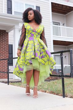 Hi-Low and Maxi Dress Styles. Lined with tulle for extra skirt flare. Multiple Patterns/Colors Available. Check out our Kente crossbody and duffle bags! African Wedding Dress, African Print Dresses, African Print Fashion, Africa Fashion, African Fashion Dresses, African Dress, African Clothes, Ankara Fashion, African Prints