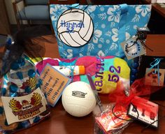 Custom volleyball easter basket pail sports theme varsity volleyball goodie bag for our national tournament negle Images