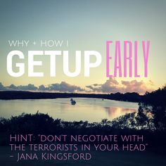 How and Why I Get Up Early In The Morning (and what I secretly say to myself to get me to do it). Getting Up Early, Online Programs, Early Morning, Dream Big, Wake Up, Productivity, How To Get, Dreams, Sayings