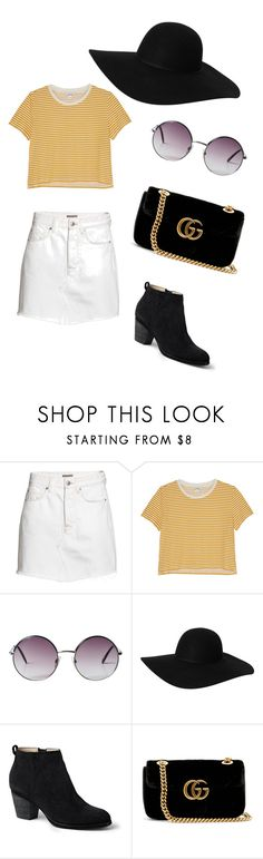 """Cute outfit"" by indrasavje01 on Polyvore featuring H&M, Monki, Lands' End and Gucci"