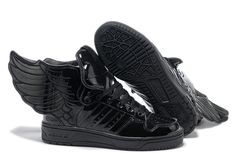 best loved 7d859 cd598 Adidas Jeremy Scott Wings 2.0 All Black Shoes Alas Negras, Adidas  Originales, Patentes,