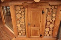 Cordwood Construction.  Not necessarily just for smaller homes, but certainly would be lovely on them!